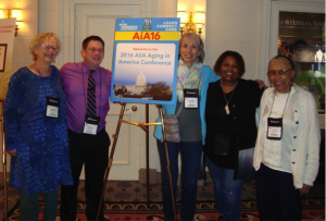 From Left to Right: Elizabeth Serkin, Charles Whitlock, Lorraine Passadino, Marsha Wesley Coleman, Alice Swann